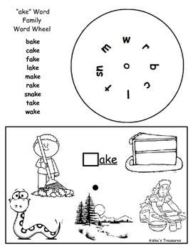 ake word  family wordwheel
