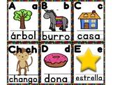 alfabeto español colores