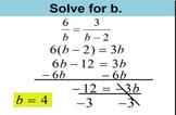algebra cross multiplication and ratio examples