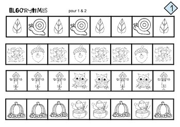 algorythmes patterns autumn fall mater niv 1