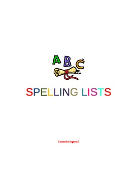 'all' Spelling Word Lists and Printables