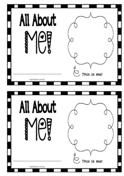 all about me concept book - us spelling