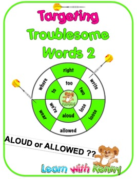 aloud/allowed  – UK English Targeting Troublesome Words Worksheets