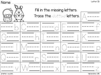 alphabet 2 part matching puzzles: bunny egg theme plus bonus materials