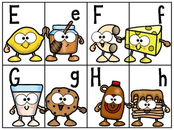 alphabet 2 part matching puzzles: go-together characters