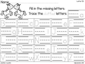 alphabet 2 part matching puzzles: unicorn theme + bonus numeral cards