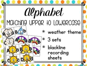 alphabet 2 part matching puzzles: weather emoji theme_3 sets