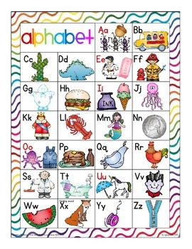 alphabet 2-part rainbow puzzles: matching upper to lower case with bonus