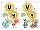 alphabet 3-part sunflower matching cards with bonus