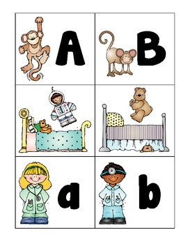 alphabet: 5 little monkeys extension activity