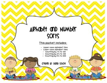alphabet and number sort packet