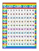 alphabet and numeral cards: rainbow with peace sign theme