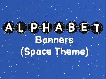 alphabet banners space theme