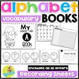 alphabet beginning sounds vocabulary words for emergent readers