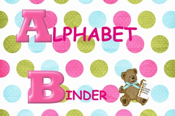alphabet binder cover