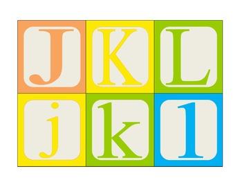 alphabet blocks: matching upper and lower case
