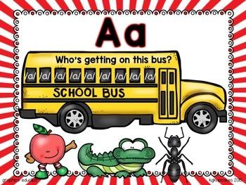 alphabet bus_beginning letter/sound work + bonus: no prep printables