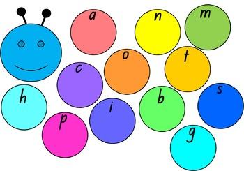 alphabet caterpillar - beginning sounds