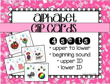 alphabet clip cards_4 sets