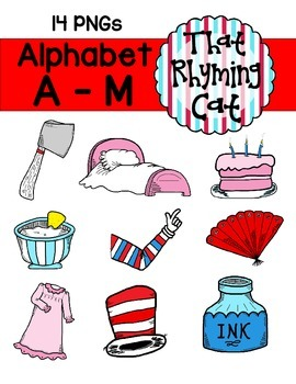 alphabet clipart: that rhyming cat_A to M