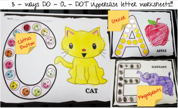 alphabet do-a-dot worksheets (UPPERCASE LETTERS)