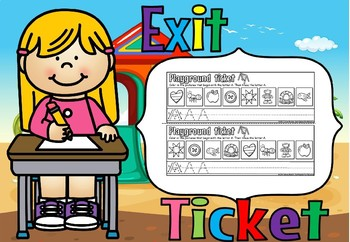 alphabet  exit ticket(free sample)