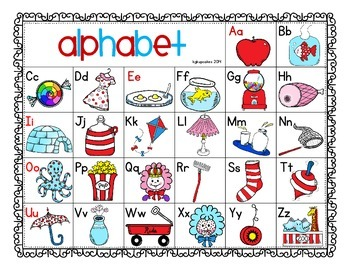 alphabet flashcards: that rhyming cat_half page