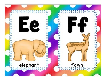 alphabet flashcards_half page_animal crackers theme