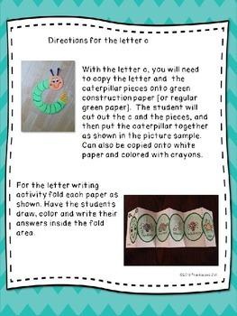 alphabet letter fun for the letter c   LITTLE PREP!!!