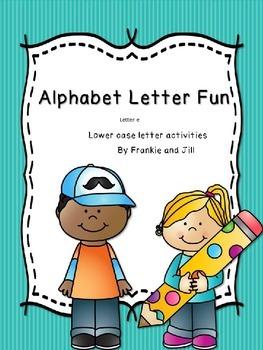 alphabet letter fun for the letter e    LITTLE PREP!!!