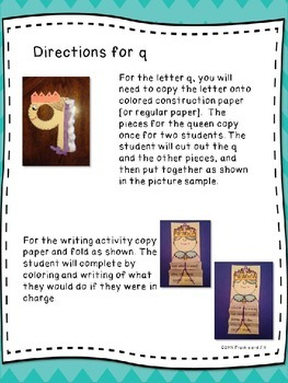 alphabet letter fun for the letter q     LITTLE PREP!!!