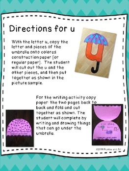 alphabet letter fun for the letter u     LITTLE PREP!!!