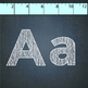 alphabet letters chalk clip art:  math symbols, upper, lowercase, numbers .png