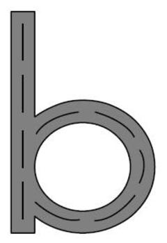 alphabet letters or roads
