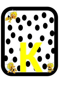 alphabet letters with bees