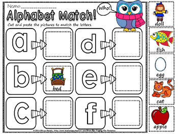 alphabet match(free)