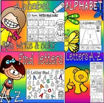 letters of the alphabet mega packet