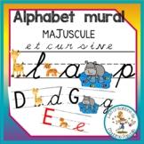 alphabet mural cursive