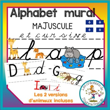 alphabet mural cursive trottoirs qc