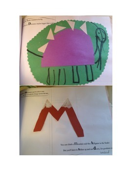 "alphabet poetry for ADSM phonics, writing art ""The Snake who wanted to be big"""