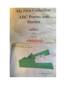 "alphabet poetry for ADSM phonics, writing art ""The Snake w"