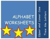 alphabet practice wrting sheets