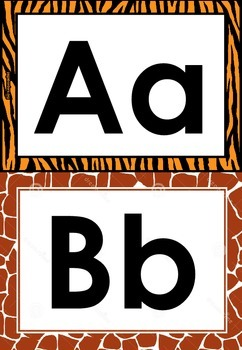 alphabet safari A-Z