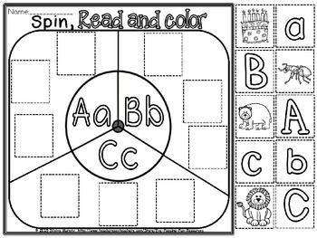 alphabet spin read color cut and paste(free)