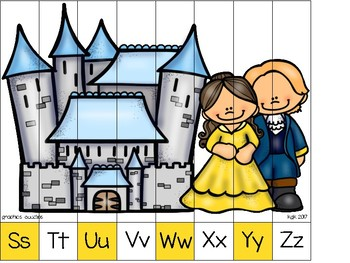 alphabet strip puzzle_beauty and the beast theme