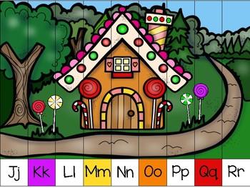 alphabet strip puzzle_hansel and gretel theme