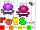 alphabet strip puzzle_rainbow frogs theme