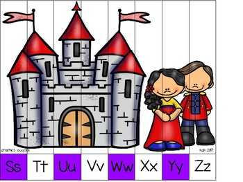 alphabet strip puzzle_snow white theme