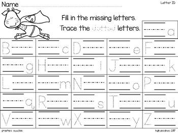 alphabet strip puzzle_super hero animals + bonus numeral cards