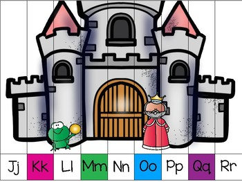 alphabet strip puzzle_the frog prince theme